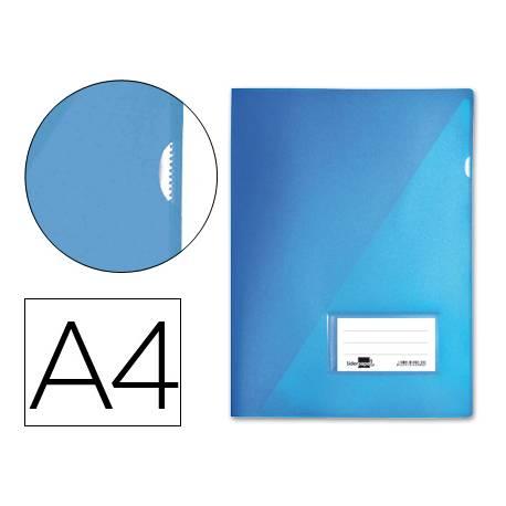 Funda dossier uñero con solapa Liderpapel Din A4 azul