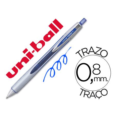 Boligrafo roller Uni-ball Vision RT color azul 0,6 mm