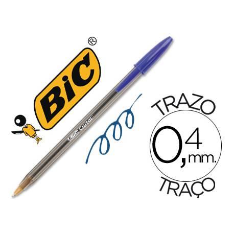 Boligrafo Bic Cristal azul pack 5 unidades