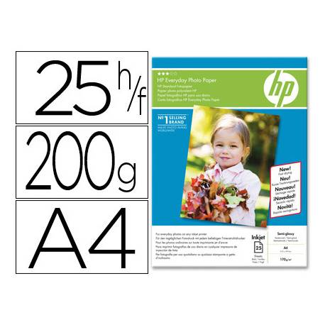 Papel Foto Glossy 200 g/m2 Din A4 HP