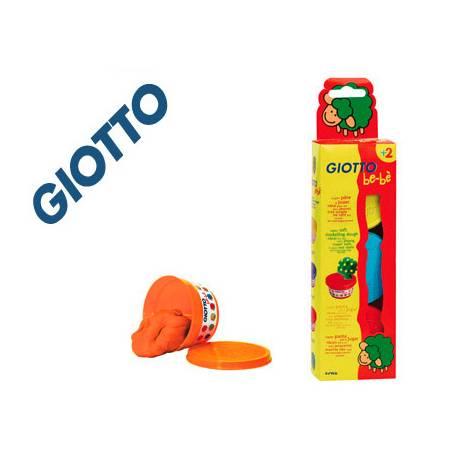 Pasta para modelar Be-be Giotto Colores Amarillo, Azul y Roja