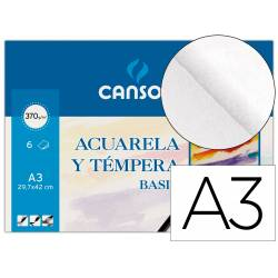 Papel acuarela Canson A3 370 g/m2