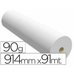 Papel reprografia Plotter 90 g/m2, 914 mm x 91 m.