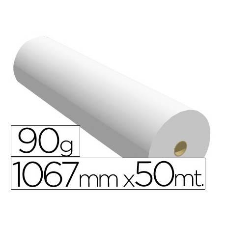 Papel reprografia Plotter 90 g/m2, 1067 mm x 50 m.