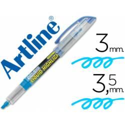 Rotulador Artline EK-640 Fluorescente Azul Punta biselada