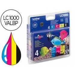 Cartucho Brother LC-1000 (LC-1000VALBP) pack negro cian magenta amarillo