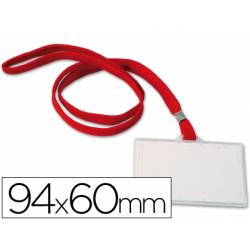Identificadores Q-Connect cordon plano rojo