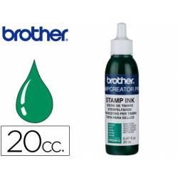 Tinta Brother Verde para sellos 20 cc