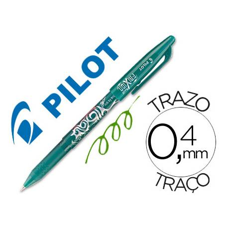 Boligrafo Borrable roller Pilot Frixion 0,4 mm Color Verde