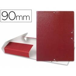 Carpeta de proyectos Liderpapel de carton gomas rojo 9 cm