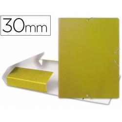 Carpeta de proyectos Liderpapel de carton con gomas. Folio. Amarillo. 3 cm