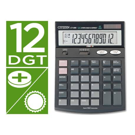 Calculadora Sobremesa Citizen CT-666 12 digitos