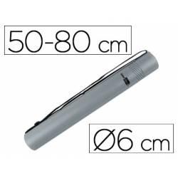 Portaplanos plastico extensible Liderpapel gris