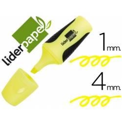 Rotulador Fluorescente Liderpapel mini amarillo