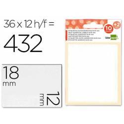 Etiquetas Adhesivas Liderpapel Obsequio 12 x 18 mm