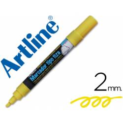 Rotulador Artline EPW-4 Marcador tipo tiza Color Amarillo bolsa 4 rotuladores