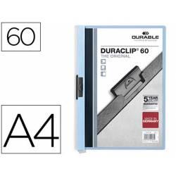 Carpeta dossier con pinza central duraclip Durable 60 hojas Din A4 azul