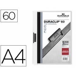 Carpeta dossier con pinza central duraclip Durable 60 hojas Din A4 blanco
