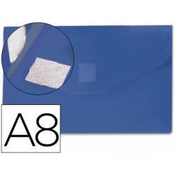 Carpeta sobre Liderpapel velcro azul