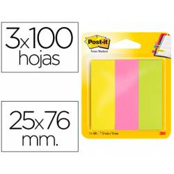 Post-it ® Bloc quita y pon neon mininotas