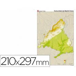 Mapa mudo Madrid fisico