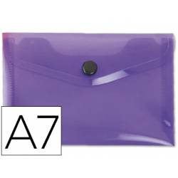 Carpeta sobre Liderpapel cierre broche violeta Din A7