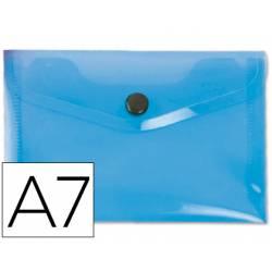 Carpeta sobre Liderpapel broche azul Din A7