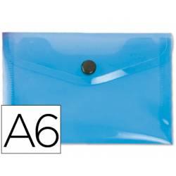 Carpeta sobre Liderpapel cierre broche azul Din A6