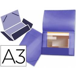 Carpeta de gomas lomo flexible con solapas Liderpapel Din A3 violeta