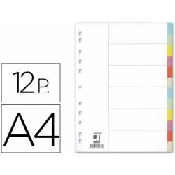 Separadores de cartulina Q-Connect multitaladro A4 Juego de 12