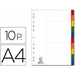 Separadores de plastico Q-Connect multitaladro Din A4