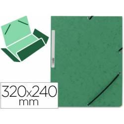 Carpetas de gomas carton prespan Q-Connect Din A4 verde