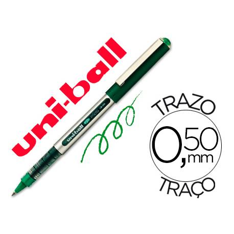 Rotulador-bolígrafo Uni-Ball verde UB-150 0,3 mm