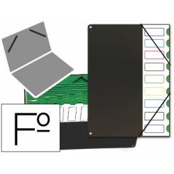 Carpeta clasificadora de plastico Pardo negro