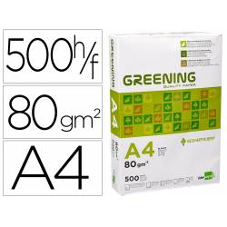 Papel Din A4 Greening 80gr 500 Hojas multifuncion