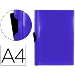 Carpeta dossier con pinza lateral Liderpapel 30 hojas Din A4 azul frosty