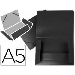 Carpeta lomo flexible gomas con solapas Liderpapel Din A5 negro opaco