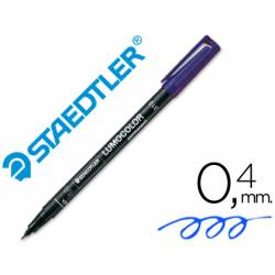 Rotulador Retroproyección Permanente Staedtler Lumocolor 313 Azul Punta Superfina Redonda