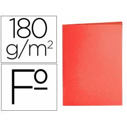 Subcarpeta cartulina folio Liderpapel rojo