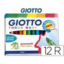 Rotulador Giotto Turbo Maxi Punta gruesa Lavable Caja de 12 Rotuladores