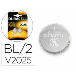 Pila alcalina boton marca Duracell CR2025 Blister 2 unidades
