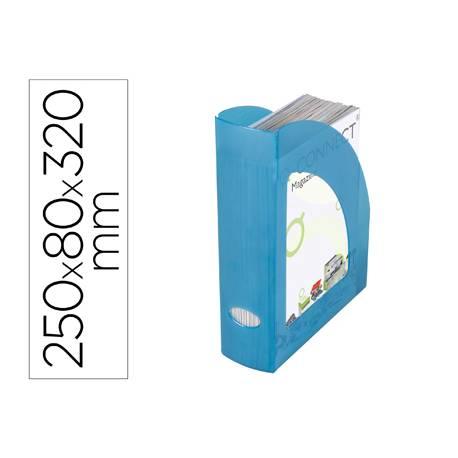 REVISTERO PLASTICO Q-CONNECT COLOR AZUL TRANSLUCIDO