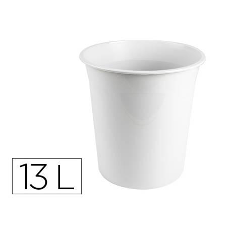 Papelera plastico q-connect gris opaco 13 litros