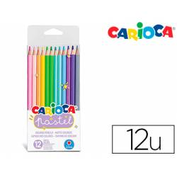 Lapices de colores Carioca Pastel Hexagonal 12 colores