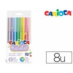Rotulador Carioca Pastel Blister 8 Colores surtidos