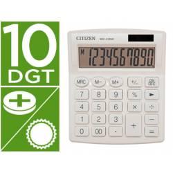 Calculadora sobremesa Citizen SDC-810 NRGNE 10 dígitos Blanco