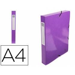 Carpeta de proyecto Exacompta gomas carton plastificado DIN A4 Color Violeta