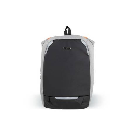 """Mochila para portatil marca Q-connect 18"""" negra / gris poliester impermeable 46x17x31 cm."""