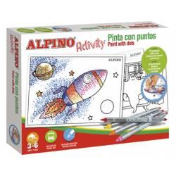 Juego educativo a partir de 3 años Activity Pinta con puntos Alpino