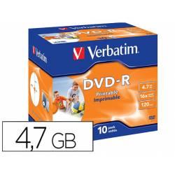 DVD-R VERBATIM 4,7 GB duración 120 min